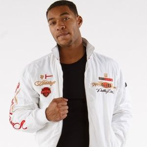 Pelle Pelle White Lightweight Embroidered Jacket